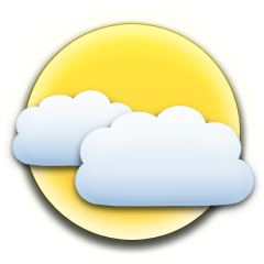 It is forcast to be Partly Cloudy at 7:00 PM GMT on December 10, 2018