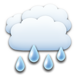 It is forcast to be Rain at 7:00 PM GMT on December 13, 2017