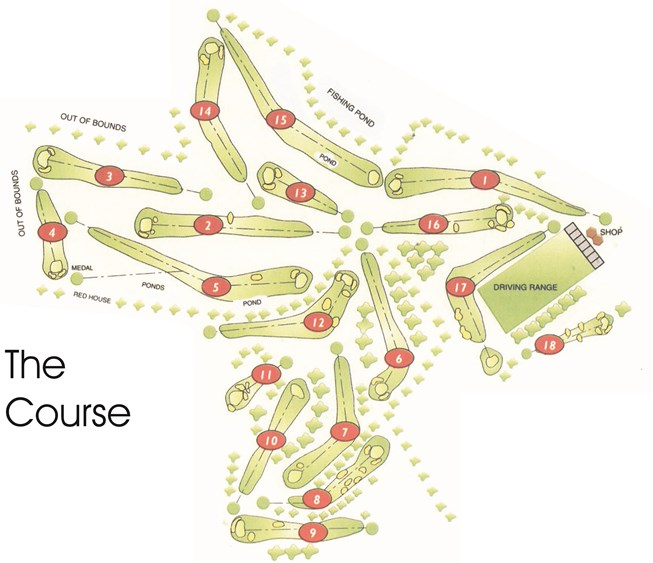 Golf Complex Course Map