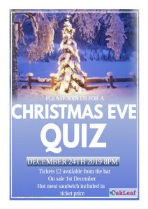 Christmas Eve Quiz