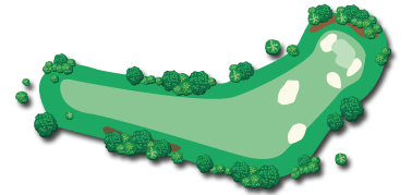 A map showing an overview of Hole 12