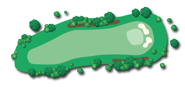 A map showing an overview of Hole 4