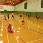 Indoor sports hall activities