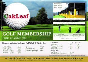 Golf Membership 2020 - 2021